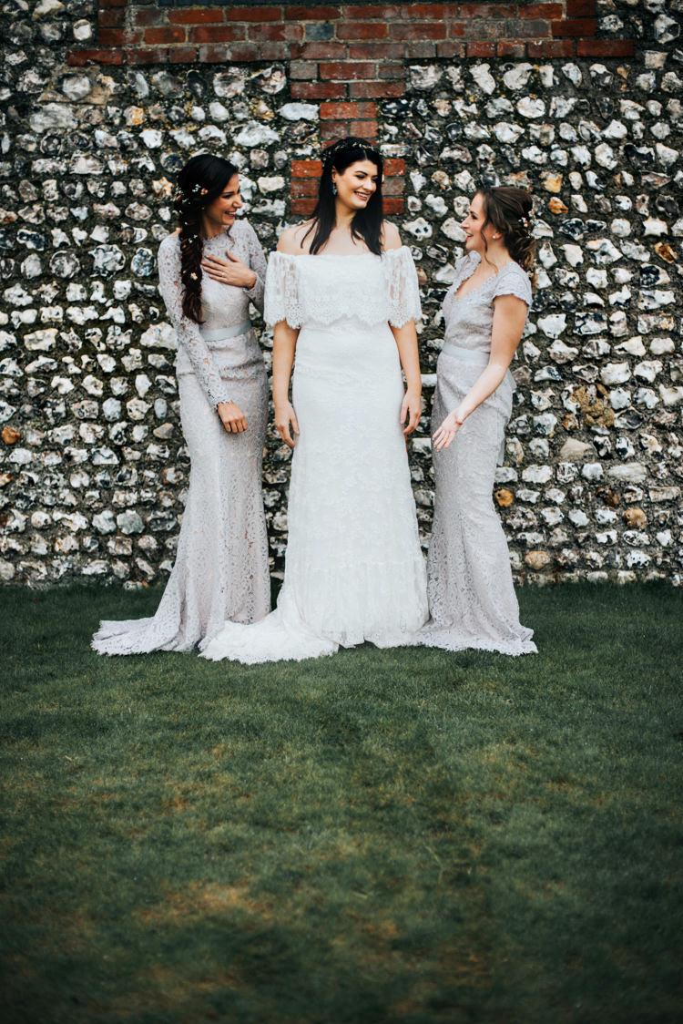 Long Lace Bridesmaid Dresses Bohemian Mermaid Wedding Ideas https://www.elizaclaire.com/