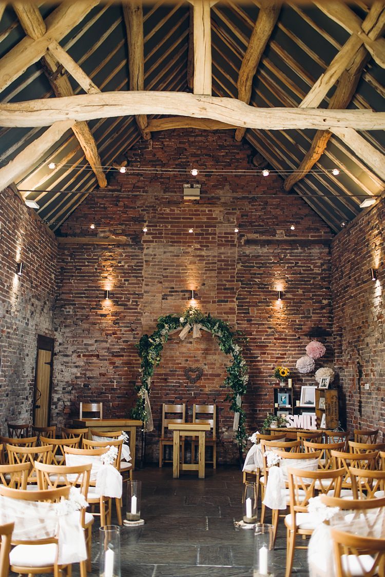 Barn Ceremony Arbour Backdrop Arch Foliage Hessian Classic Rustic Home Made Country Wedding http://www.jessicareeve-photography.com/
