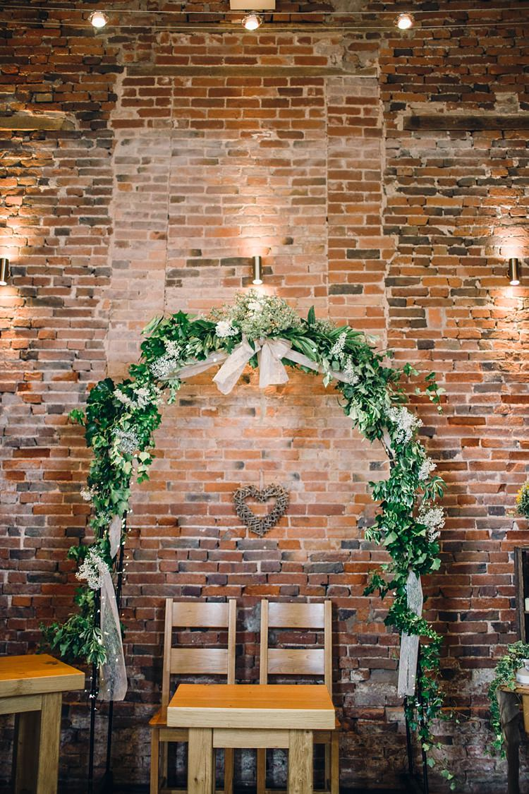 Backdrop Foliage Arch Arbour Ceremony Classic Rustic Home Made Country Wedding http://www.jessicareeve-photography.com/