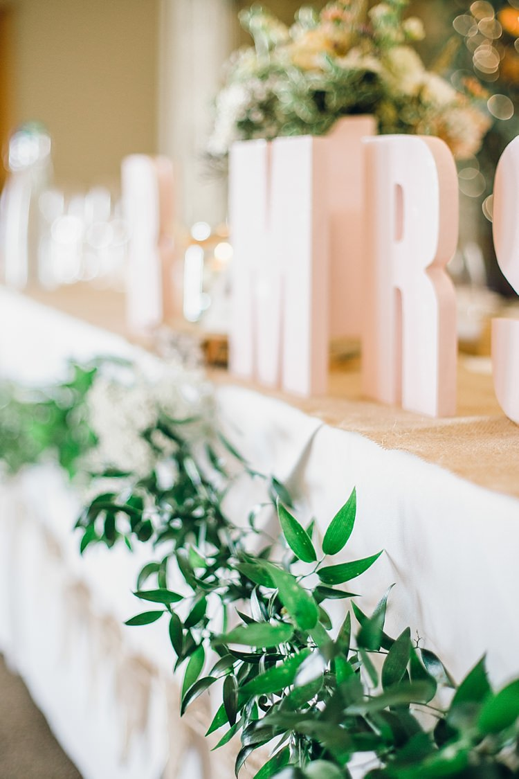 Top Table Foliage Greenery Decor Swag Garland Classic Rustic Home Made Country Wedding http://www.jessicareeve-photography.com/