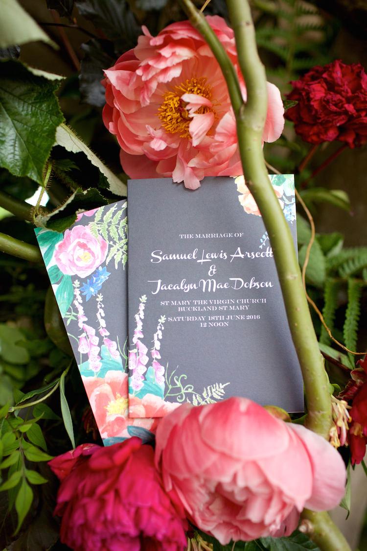 Stationery Pretty Knots and Kisses Floral Artistic Farm Wedding http://elizabetharmitage.com/
