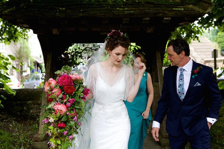 Clara Eliza Jane Howell Dress Gown Bride Bridal Beaded Tulle Floral Artistic Farm Wedding http://elizabetharmitage.com/