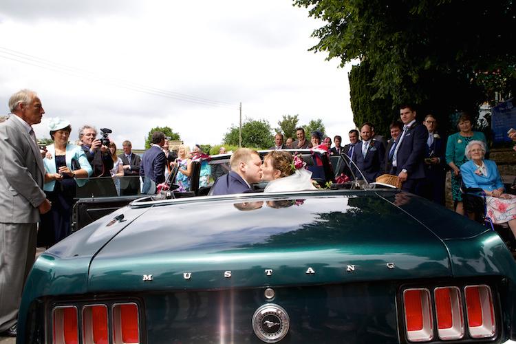 Convertable Car Floral Artistic Farm Wedding http://elizabetharmitage.com/