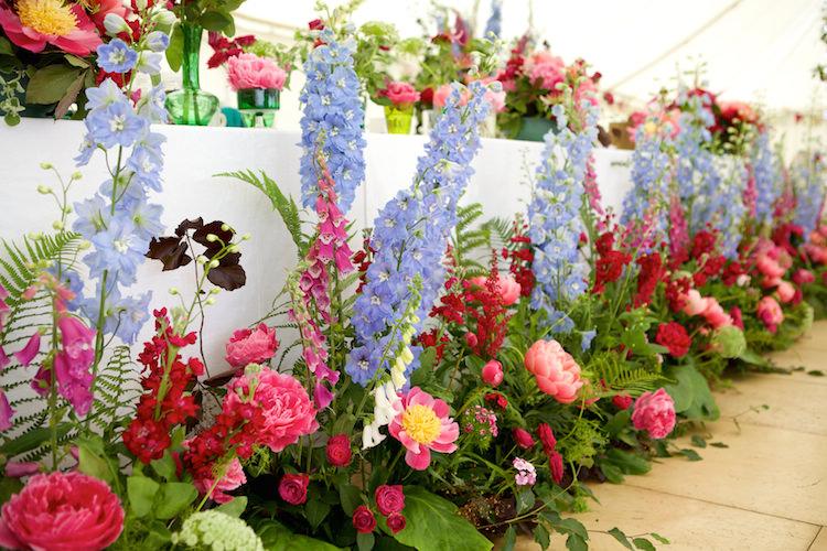 Top Table Flowers Foxgloves Peonies Garden Wild Floral Artistic Farm Wedding http://elizabetharmitage.com/