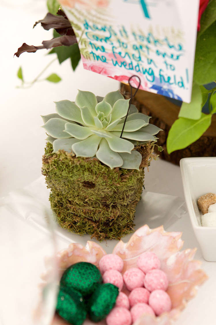 Succulent Moss Table Name Number Stand Floral Artistic Farm Wedding http://elizabetharmitage.com/