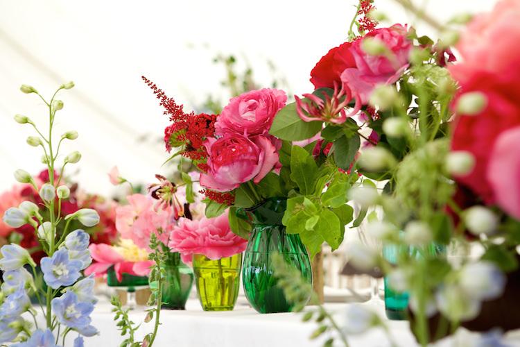 Glass Vases Bottles Flowers Floral Artistic Farm Wedding http://elizabetharmitage.com/