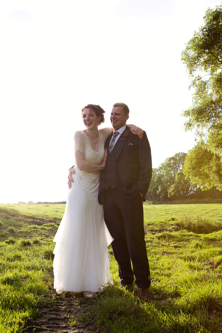 Eliza Jane Howell Clara Beaded Tulle Dress Gown Bride Bridal Floral Artistic Farm Wedding http://elizabetharmitage.com/