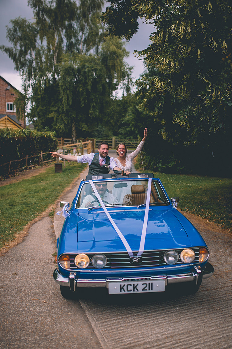 Classic Vintage Car Transport Homespun Fun Country Barn Wedding http://storyandcolour.co.uk/