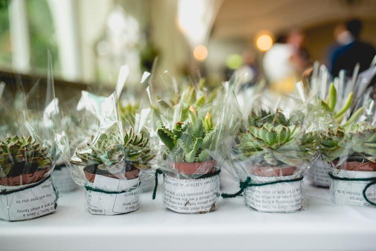 Succulent Favours Decor Fun Quirky 1950s Wedding http://www.lisacarpenterphotos.com/