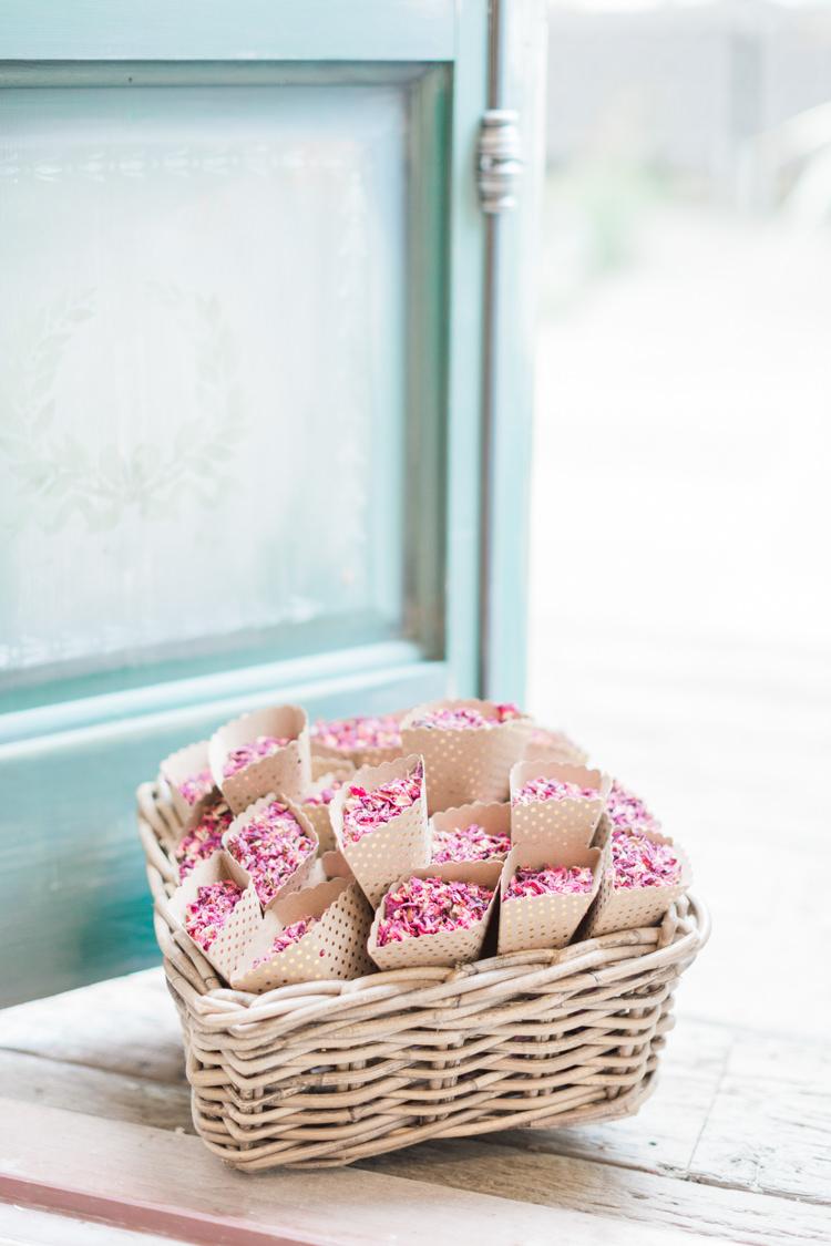 Confetti Cones Basket Petals Whimsical Elegant Classic Wedding http://katymelling.com/