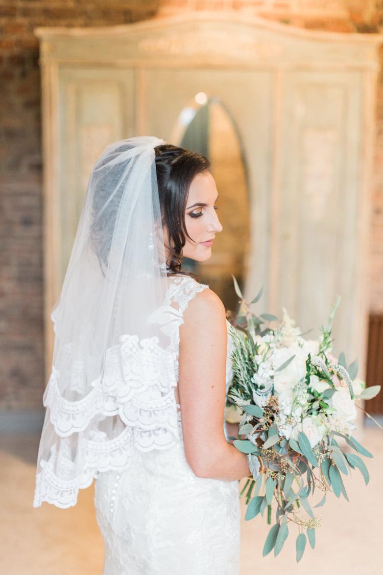 Lace Edge Veil Bride Bridal Accessory Whimsical Elegant Classic Wedding http://katymelling.com/