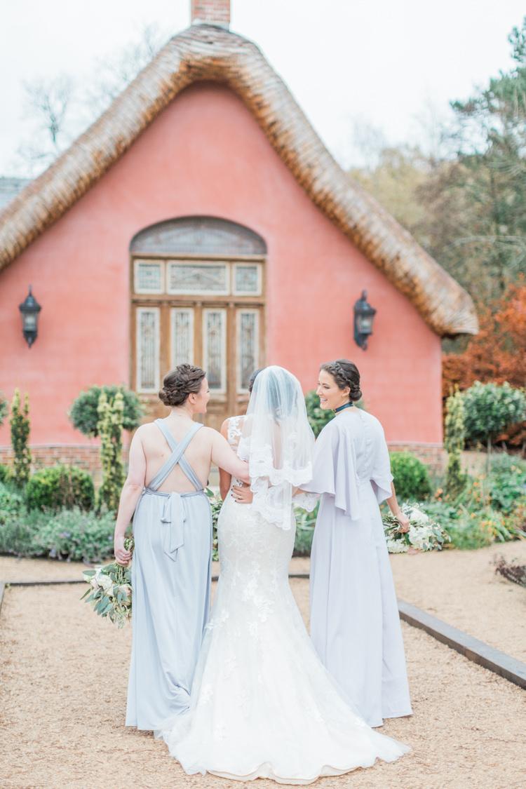 Maxi Dresses Bridesmaids Lilac Grey Back Whimsical Elegant Classic Wedding http://katymelling.com/