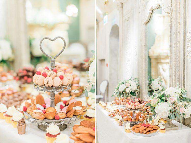 Dessert Cake Table Treats Whimsical Elegant Classic Wedding http://katymelling.com/