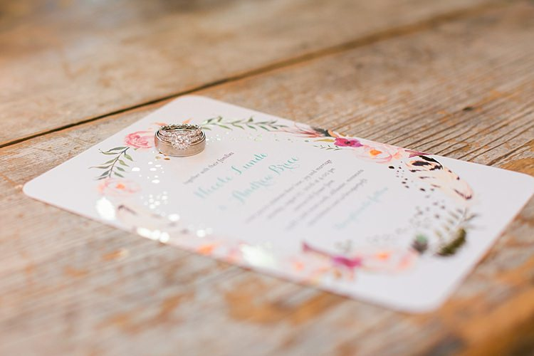Floral Wedding Stationery Invitation Wedding Engagement Rings Flower Farm Outdoor Wedding Minnesota http://eileenkphoto.com/