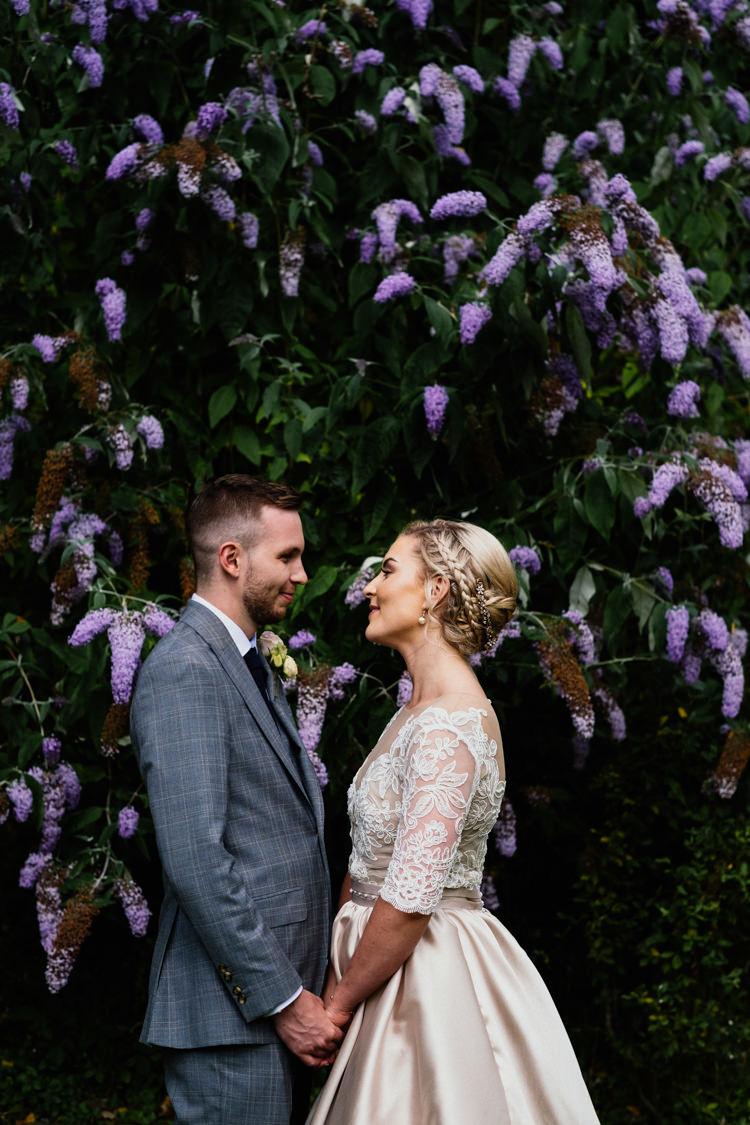 Anges Etoiles Bride Hackett Tweed Suit Relaxed Stylish Outdoor Wedding http://www.euanrobertsonweddings.com/