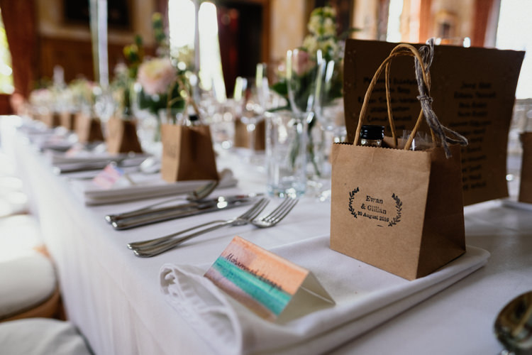 Watercolour Place Cards Favours Table Setting Relaxed Stylish Outdoor Wedding http://www.euanrobertsonweddings.com/
