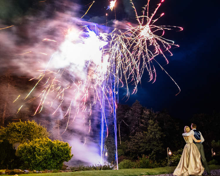 Fireworks Relaxed Stylish Outdoor Wedding http://www.euanrobertsonweddings.com/