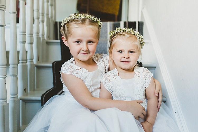 Flower Girls Crowns Glamorous Gatsby City Hall Wedding http://www.emmakenny.com/