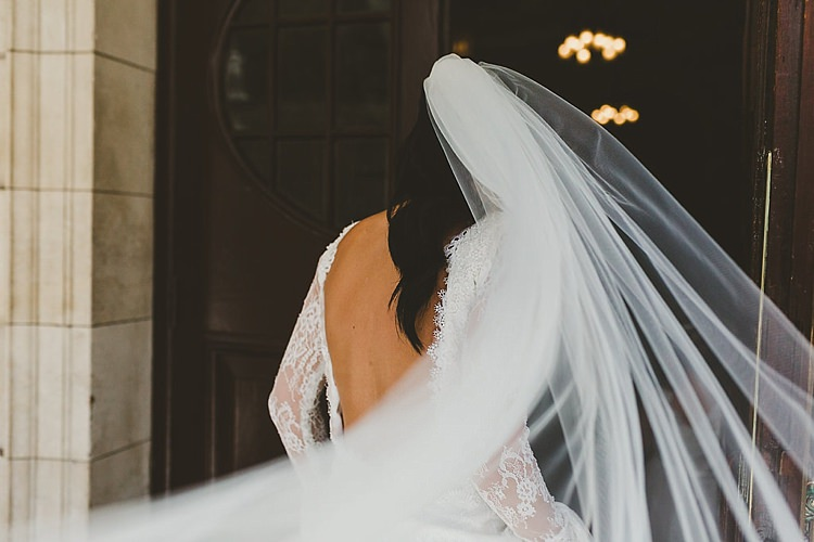 Veil Bride Bridal Glamorous Gatsby City Hall Wedding http://www.emmakenny.com/
