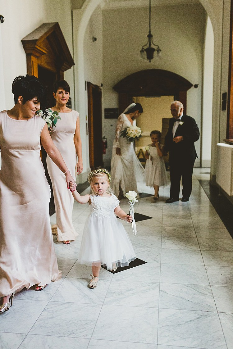 Ghost Bridesmaid Dresses Pink Long Flower Girl Glamorous Gatsby City Hall Wedding http://www.emmakenny.com/