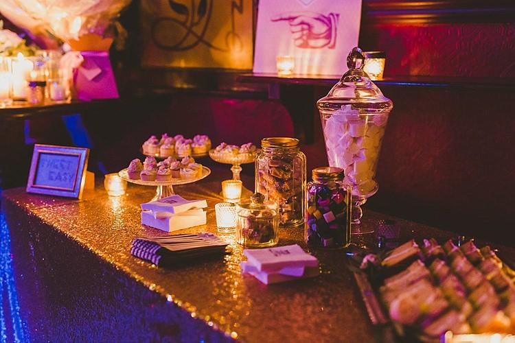 Sweet Dessert Table Glamorous Gatsby City Hall Wedding http://www.emmakenny.com/