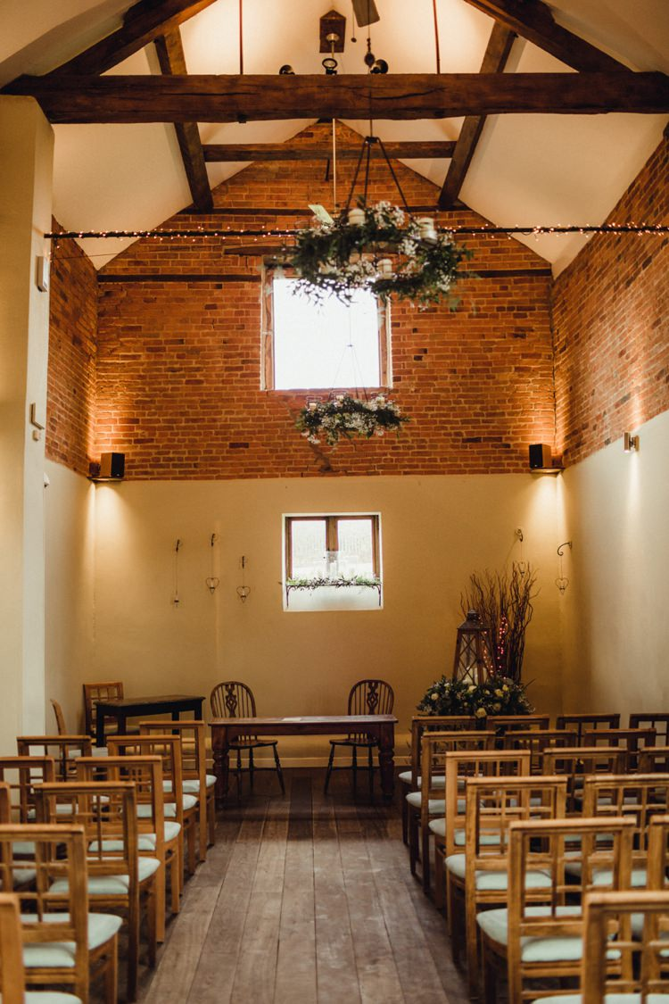 Dodmoor House Barn Venue Ceremony Simple Rustic Cosy Winter Wedding http://aniaames.co.uk/