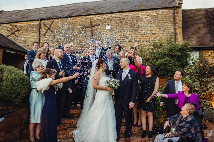 Confetti Throw Simple Rustic Cosy Winter Wedding http://aniaames.co.uk/