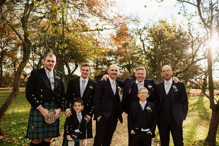 Groom Groomsmen Simple Rustic Cosy Winter Wedding http://aniaames.co.uk/