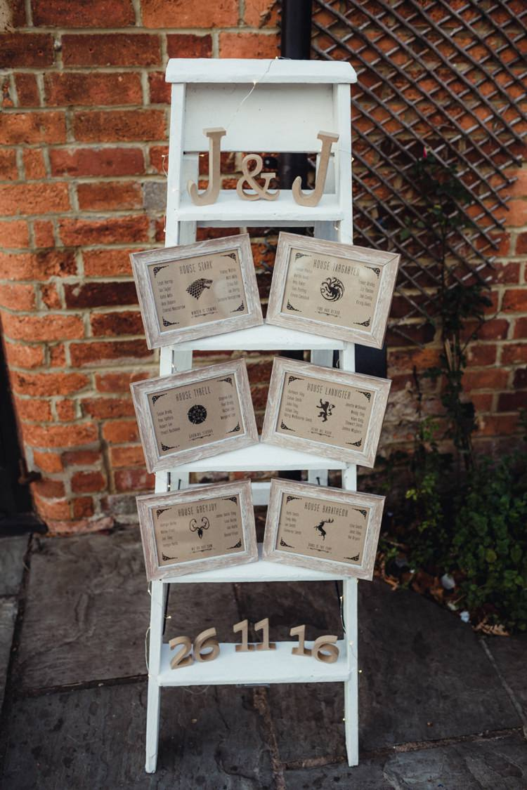 Ladder Seating Plan Table Chart Simple Rustic Cosy Winter Wedding http://aniaames.co.uk/