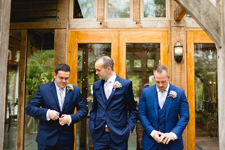 Blue Navy Suits Groomsmen Stylish Soft Blush Wedding http://www.jemmakingphotography.co.uk/