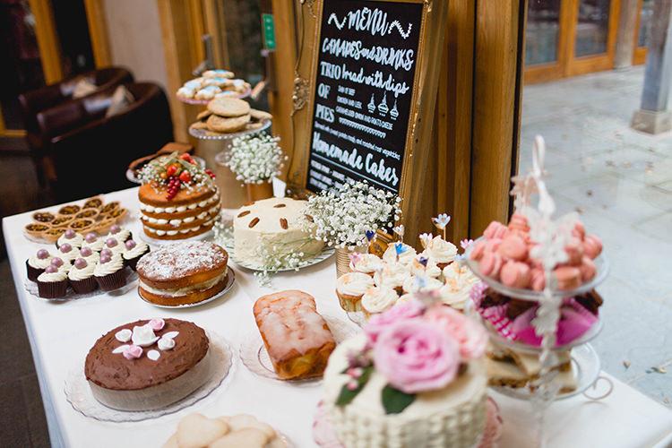 Cake Table Dessert Bake Off Stylish Soft Blush Wedding http://www.jemmakingphotography.co.uk/