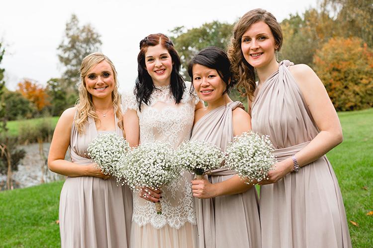 Multiway Bridesmaid Dresses Stylish Soft Blush Wedding http://www.jemmakingphotography.co.uk/