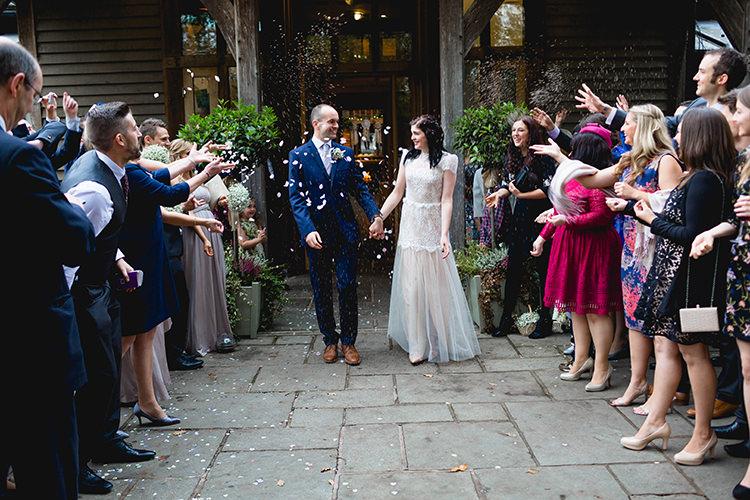 Confetti Throw Stylish Soft Blush Wedding http://www.jemmakingphotography.co.uk/