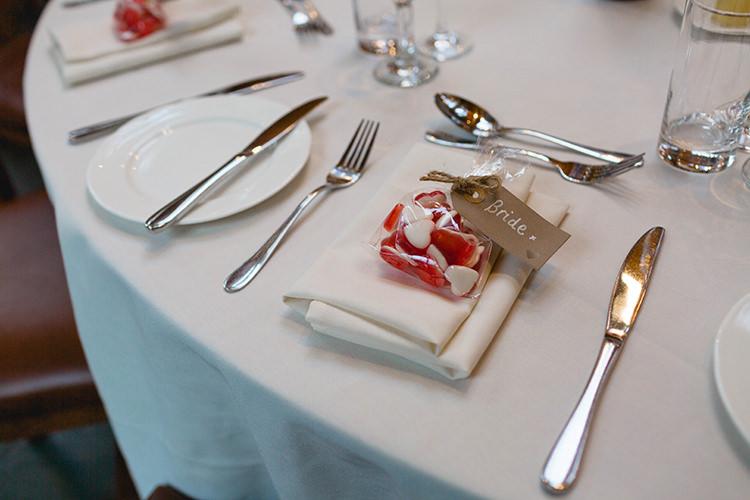 Heart Sweets Favours Stylish Soft Blush Wedding http://www.jemmakingphotography.co.uk/