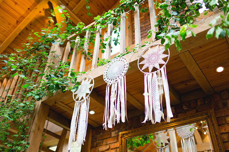 Dream Catchers Hanging Decor Stylish Soft Blush Wedding http://www.jemmakingphotography.co.uk/