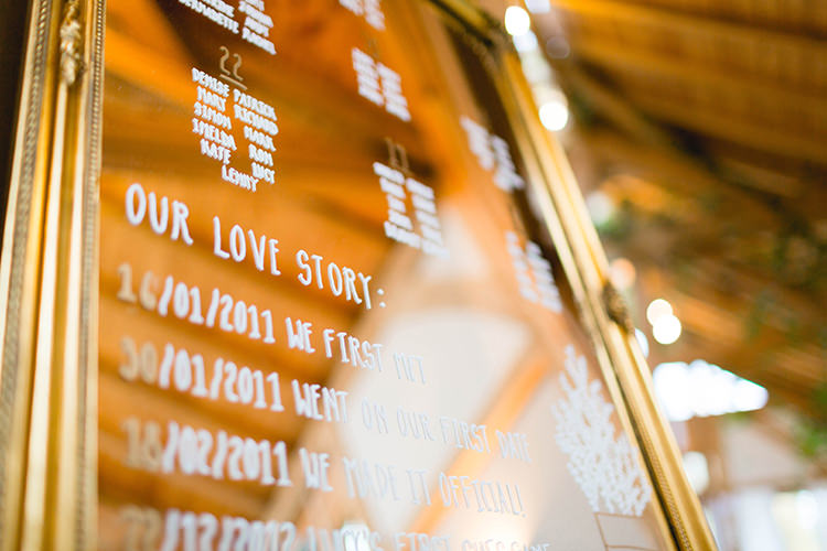 Mirror Frame Sign Stylish Soft Blush Wedding http://www.jemmakingphotography.co.uk/