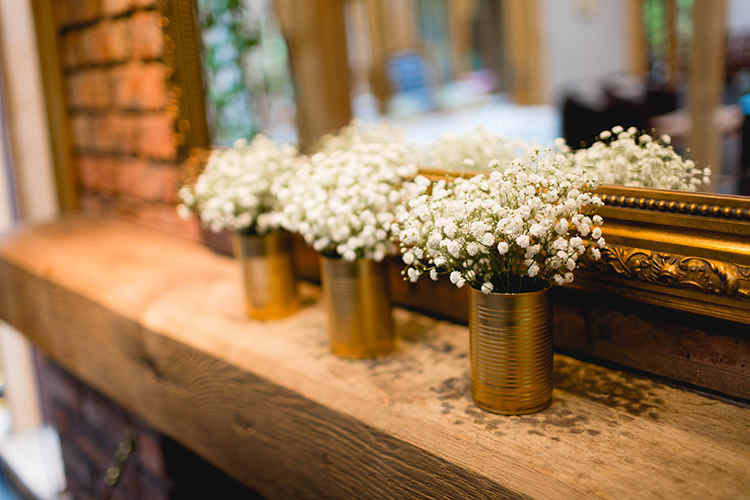 Tin Can Flowers Gyp Baby Breath Stylish Soft Blush Wedding http://www.jemmakingphotography.co.uk/