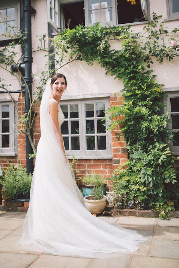 Sottero & Midgely Tulle Dress Bride Bridal Gown Light Pretty Summer Barn Wedding http://www.koweddings.com/