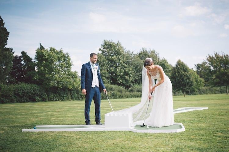 Mini Golf Game Light Pretty Summer Barn Wedding http://www.koweddings.com/