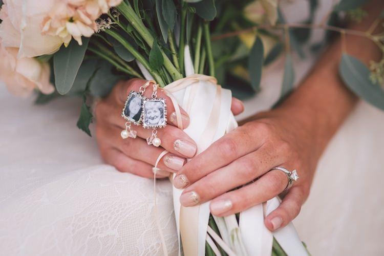 Nails Bride Bridal Bouquet Lockets Light Pretty Summer Barn Wedding http://www.koweddings.com/