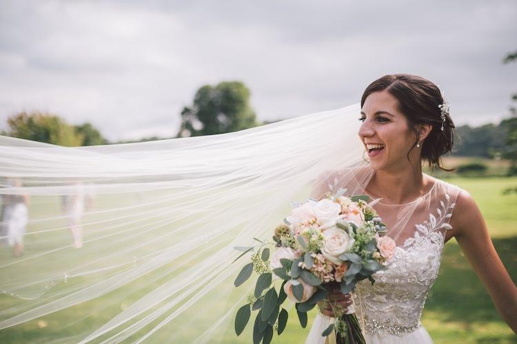 Veil Bride Bridal Accessory Light Pretty Summer Barn Wedding http://www.koweddings.com/