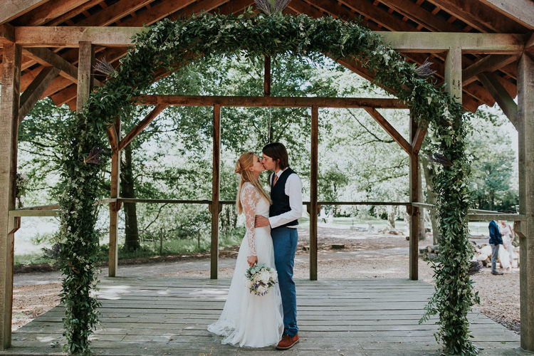 Greenery Foliage Arch Arbour Backdrop Woodland Countryside Camp Wedding http://www.joannanicolephotography.com/