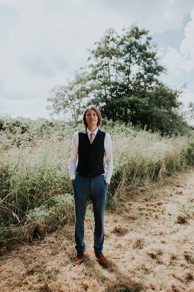 Waistcoat Chinos Desert Boots Groom Woodland Countryside Camp Wedding http://www.joannanicolephotography.com/