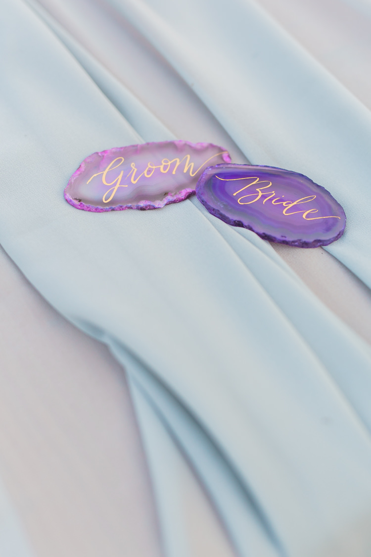 Agate Place Name Cards Calligraphy Dreamy Luxe Autumn Wedding Ideas http://suzanneli.co.uk/