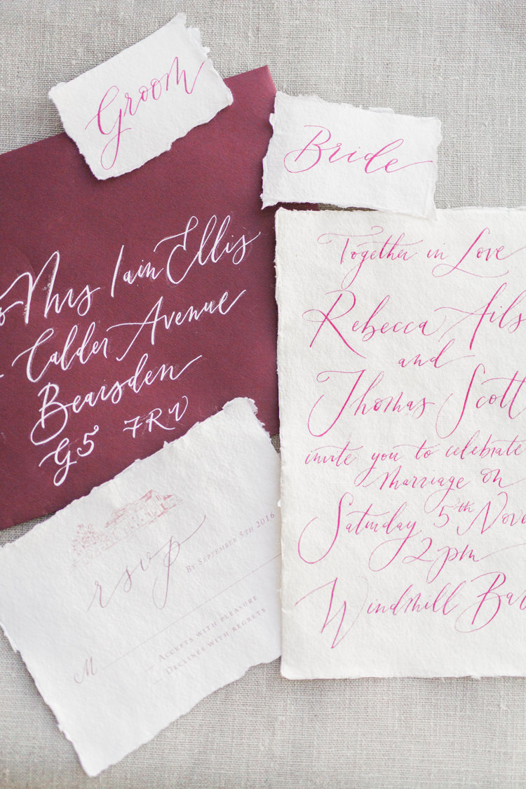 Calligraphy Stationery Designs Invitations Dreamy Luxe Autumn Wedding Ideas http://suzanneli.co.uk/