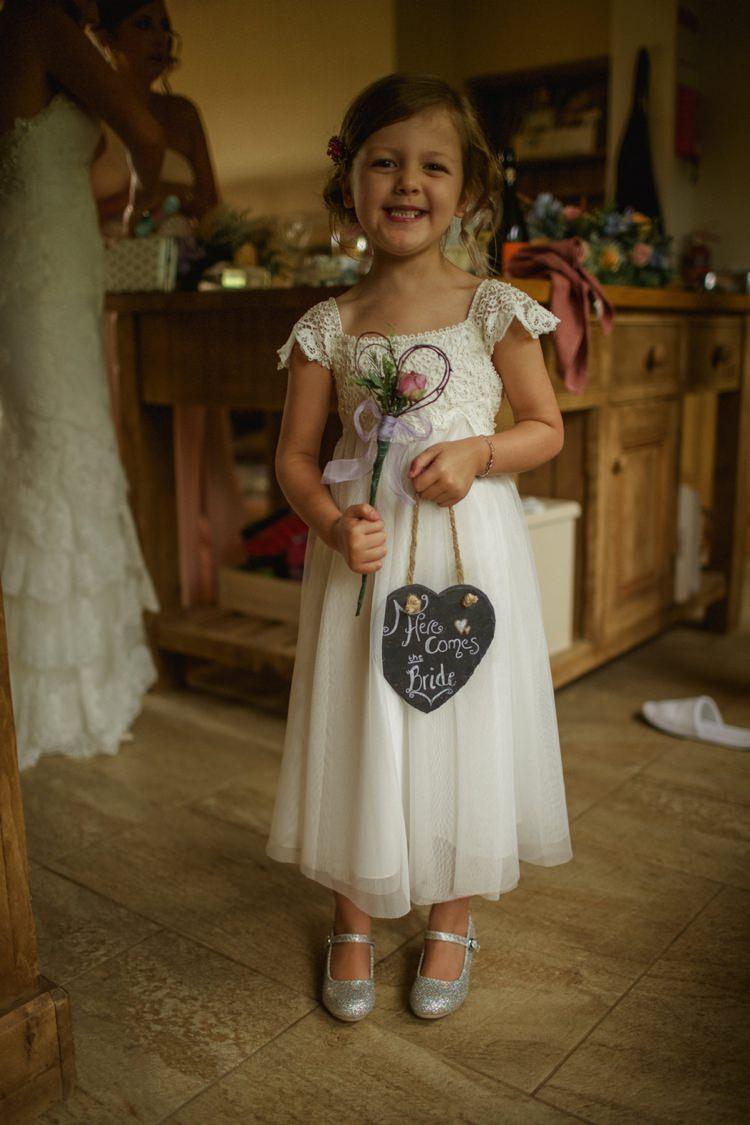 White Crochet Flower Girl Dress Summer Country Pastels Wedding http://jesspetrie.com/