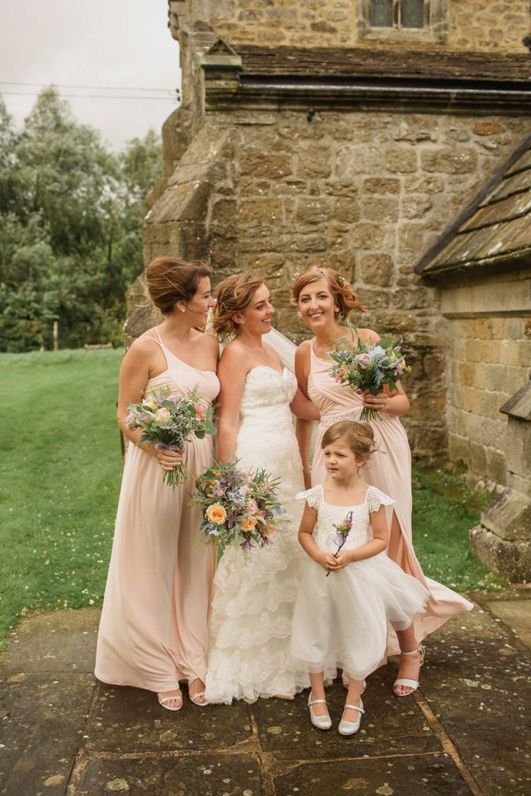 Long Blush Pink Bridesmaid Dresses Summer Country Pastels Wedding http://jesspetrie.com/
