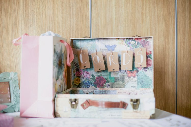 Card Suitcase Floral Summer Country Pastels Wedding http://jesspetrie.com/