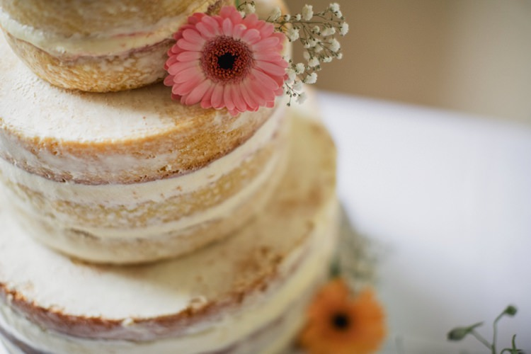 Naked Cake Sponge Layer Buttercream Flowers Summer Country Pastels Wedding http://jesspetrie.com/