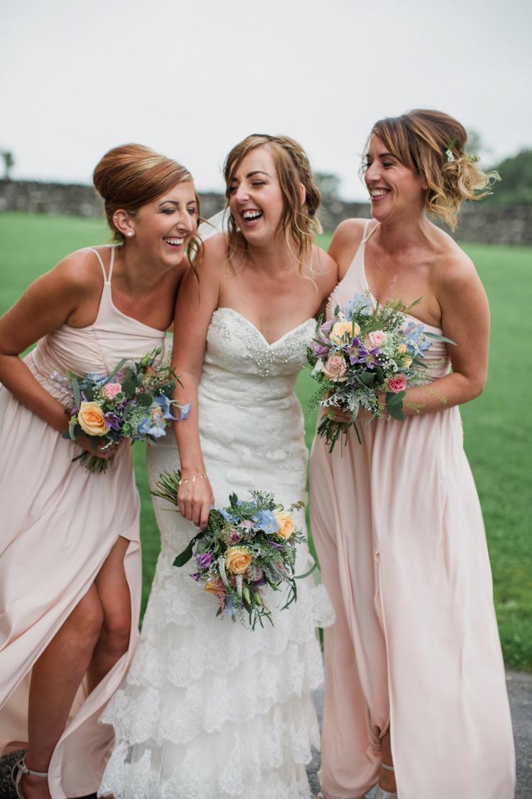 Long Blush Pink Bridesmaid Dresses Summer Country Pastels Wedding http://jesspetrie.com/